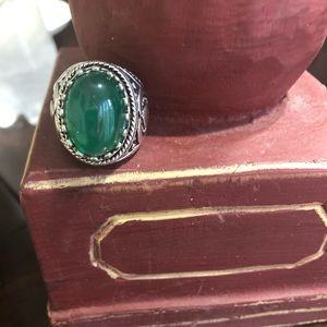 Other - 10.5 Lucky Horseshoe Jade Statement Ring